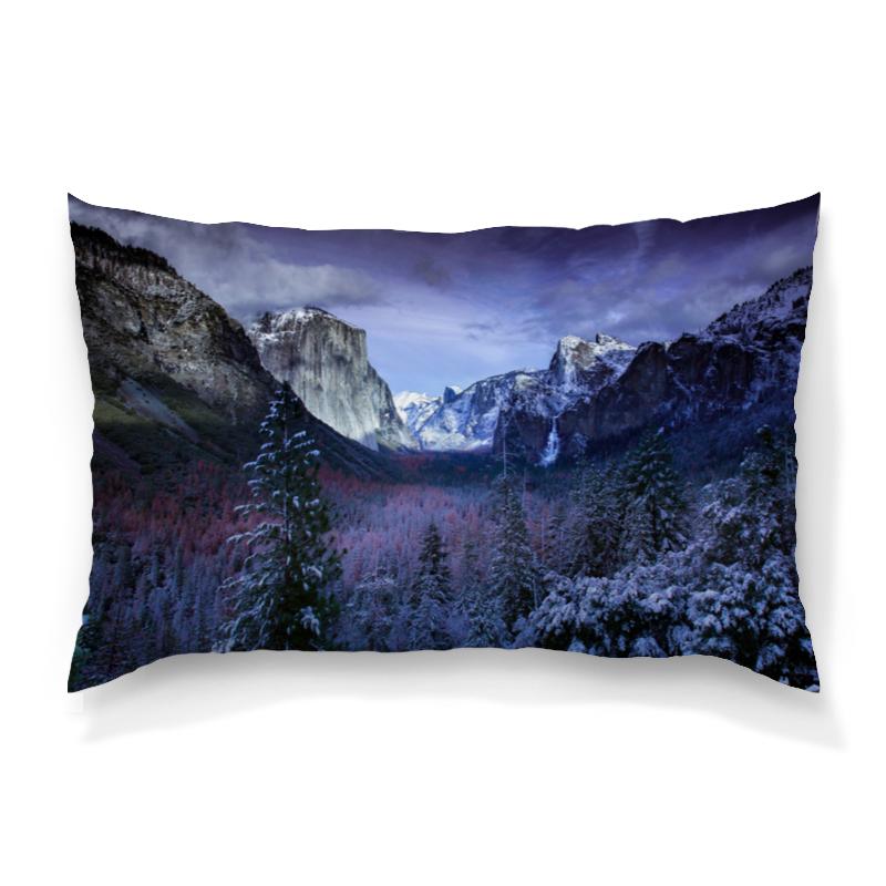 Printio Синие горы подушка 60х40 с полной запечаткой printio лес и горы