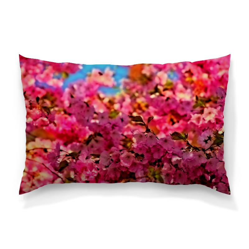 Подушка 60х40 с полной запечаткой Printio Весенние цветы подушка 60х40 с полной запечаткой printio огненные цветы