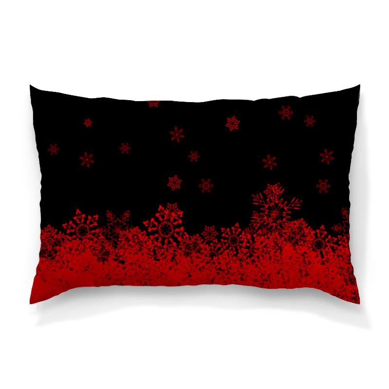 Подушка 60х40 с полной запечаткой Printio Красные снежинки костюм маленькой снежинки 32