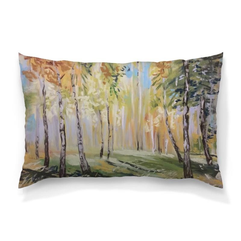 Подушка 60х40 с полной запечаткой Printio Осенний лес gokelly голубое небо xxl