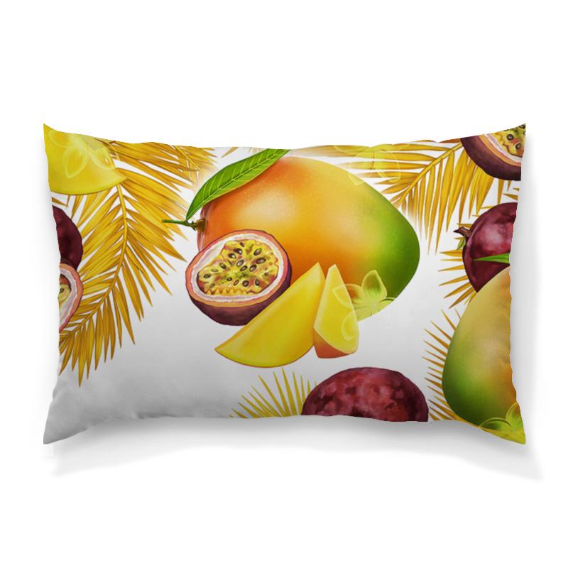 Подушка 60х40 с полной запечаткой Printio Тропические фрукты