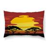 """Подушка 60х40 с полной запечаткой """"Африка"""" - солнце, африка, графика, закат, саванна"""