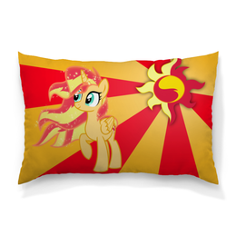 "Подушка 60х40 с полной запечаткой ""Sunset Shimmer Color Line"" - sun, cutiemark, sunset shimmer"