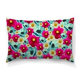 """Подушка 60х40 с полной запечаткой """"Цветочный сад"""" - цветы, весна, сад, цветные, цветочки"""