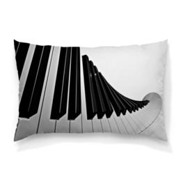 """Подушка 60х40 с полной запечаткой """"Музыка"""" - музыка, клавиши, музыкальные инструменты, ноты, пианино"""