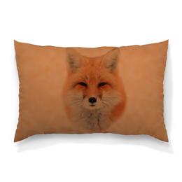 """Подушка 60х40 с полной запечаткой """"Лисица"""" - лиса, животное, рыжая, мех, хитрая"""