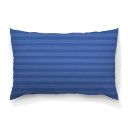 """Подушка 60х40 с полной запечаткой """"В полоску"""" - полоска, голубой, рисунок, синий, неровный"""
