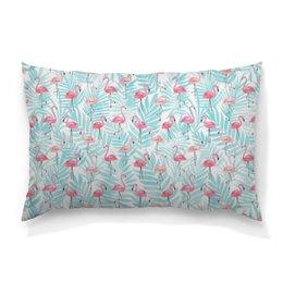 "Подушка 60х40 с полной запечаткой ""Фламинго"" - птицы, фламинго"