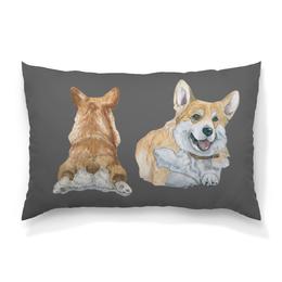"""Подушка 60х40 с полной запечаткой """"Моя любимая собака"""" - животные, собака, природа, корги, вельшкорги"""