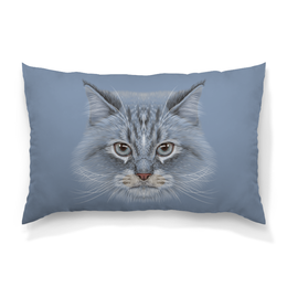 """Подушка 60х40 с полной запечаткой """"Котик"""" - кот, животное"""