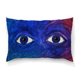"Подушка 60х40 с полной запечаткой ""Space and time"" - space, глаза, космос, звезды, абстракция"