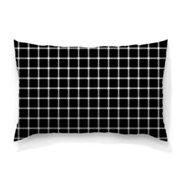 """Подушка 60х40 с полной запечаткой """"Чёрная клетка"""" - иллюзия, оптика, чёрная клетка"""