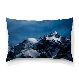"""Подушка 60х40 с полной запечаткой """"Снег в горах"""" - снег, небо, природа, горы, пейзаж"""