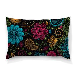 """Подушка 60х40 с полной запечаткой """"Цветочная"""" - цветы, узор, стиль, рисунок, орнамент"""