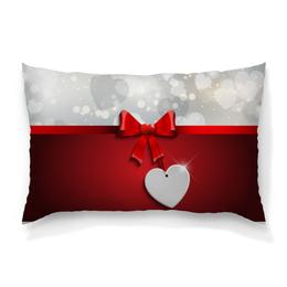 """Подушка 60х40 с полной запечаткой """"Сердца"""" - любовь, сердца, день святого валентина, 14 февраля, день влюблённых"""