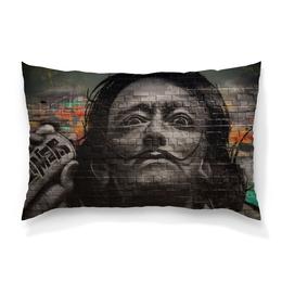 """Подушка 60х40 с полной запечаткой """"Сальвадор Дали"""" - граффити, сальвадор дали, усы, salvador dali, живописец"""