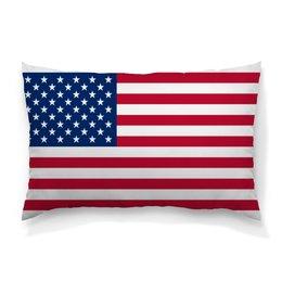 """Подушка 60х40 с полной запечаткой """"Звездно-полосатый"""" - америка, сша, штаты"""