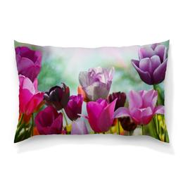 """Подушка 60х40 с полной запечаткой """"Тюльпаны"""" - цветы, весна, природа, тюльпаны"""