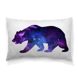 """Подушка 60х40 с полной запечаткой """"Space animals (двухсторонняя печать)"""" - bear, space, медведь, космос, астрономия"""