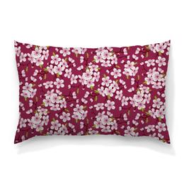 """Подушка 60х40 с полной запечаткой """"Цветущая вишня"""" - красиво, природа, цветочки, цветущая вишня, красивые цветы"""