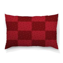 """Подушка 60х40 с полной запечаткой """"Красный геометрический узор"""" - красный, тон, горох, прямоугольник, оттенок"""