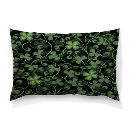 """Подушка 60х40 с полной запечаткой """"Клевер"""" - клевер, листья, зеленый, природа, листва"""