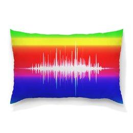 """Подушка 60х40 с полной запечаткой """"Без названия"""" - музыка, music, плеер, мелодия, звуковая волна"""