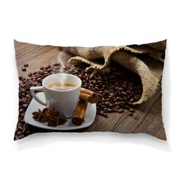 """Подушка 60х40 с полной запечаткой """"Аромат кофе"""" - кофе, уют, аромат"""