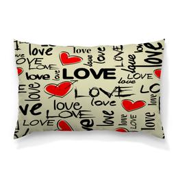 """Подушка 60х40 с полной запечаткой """"Любовь"""" - сердце, любовь, день святого валентина, надписи, i love you"""