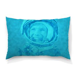 """Подушка 60х40 с полной запечаткой """"Юрий Гагарин"""" - космос, полет, летчик, первый, космонавт"""