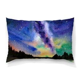 """Подушка 60х40 с полной запечаткой """"Природа"""" - звезды, небо, краски, природа, пейзаж"""