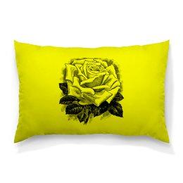 """Подушка 60х40 с полной запечаткой """"Цветок"""" - цветы, роза, розы, букет, шипы"""