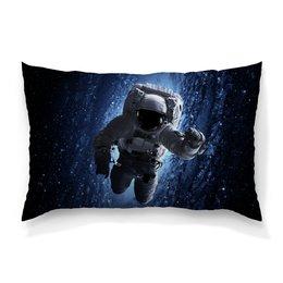 """Подушка 60х40 с полной запечаткой """"Космос"""" - космос, фотография, вселенная, звёзды, космонавт"""