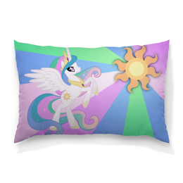 "Подушка 60х40 с полной запечаткой ""Princess Celestia Color Line"" - magic, celestia, friendship, princess"