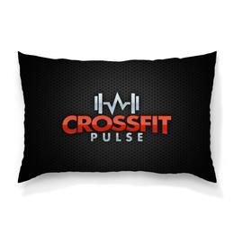 """Подушка 60х40 с полной запечаткой """"Кроссфит"""" - фитнес, fitness, гантеля, crossfit"""