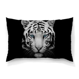 """Подушка 60х40 с полной запечаткой """"Белый тигр"""" - хищник, животные, природа, тигр, зверь"""