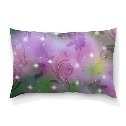 """Подушка 60х40 с полной запечаткой """"Лилия"""" - цветок, лилия"""