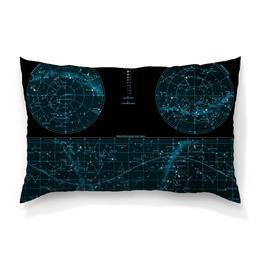 """Подушка 60х40 с полной запечаткой """"Карта звёздного неба"""" - карта, дизайн, звёзды"""