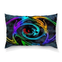 """Подушка 60х40 с полной запечаткой """"Узор красок"""" - цветы, космос, пятна, краски, абстракция"""