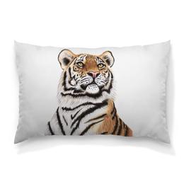 """Подушка 60х40 с полной запечаткой """"Взгляд тигра"""" - хищник, животные, взгляд, тигр, зверь"""