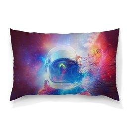 """Подушка 60х40 с полной запечаткой """"Космонавт """" - звезды, космос, краски, космонавт"""