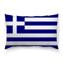"Подушка 60х40 с полной запечаткой ""Калимера, Эллада!"" - флаг, греция, эллада"