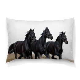 """Подушка 60х40 с полной запечаткой """"Лошади"""" - арт, стиль, рисунок"""