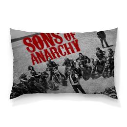 """Подушка 60х40 с полной запечаткой """"Сыны анархии / Sons of Anarchy"""" - рисунок, кино, сериал, сыны анархии"""