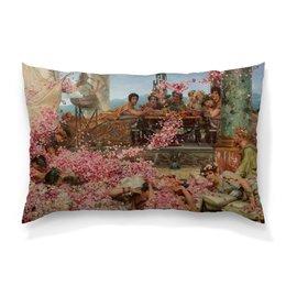 """Подушка 60х40 с полной запечаткой """"Розы Гелиогабала (Лоуренс Альма-Тадема)"""" - цветы, картина, живопись, лоуренс альма-тадема"""
