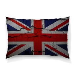 "Подушка 60х40 с полной запечаткой ""Британский Флаг"" - англия, britain"