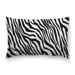 """Подушка 60х40 с полной запечаткой """"Зебра"""" - животные, стиль, зебра, полосы, полосатый"""