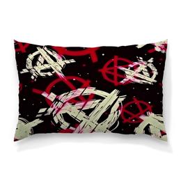 """Подушка 60х40 с полной запечаткой """"Анархия"""" - рисунок, надписи, знаки, символы, анархия"""