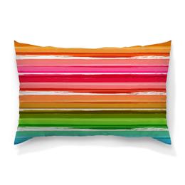 """Подушка 60х40 с полной запечаткой """"Радуга"""" - узор, радуга, рисунок, полосатый, красочный"""