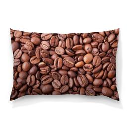 """Подушка 60х40 с полной запечаткой """"Зерна кофе"""" - утро, напиток, кофе, зерна, крепкий"""